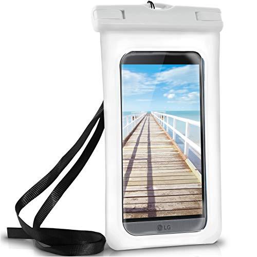 ONEFLOW Wasserdichte Hülle für LG | Full Cover in Weiß 360° Unterwasser-Gehäuse Touch Schutzhülle Water-Proof Handy-Hülle für LG G7 ThinQ G6 G5 G4 G3 G2 G1 G Flex 2 UVM Case Handy-Schutz