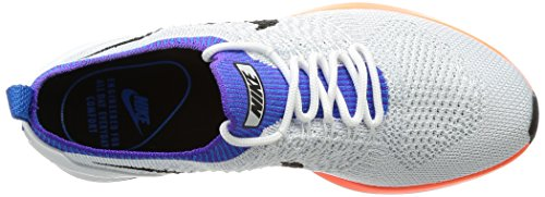 Nike Air Zoom Mariah Flyknit Racer, Scarpe da Ginnastica Donna Bianco (.Whitehyper Crimsonpure Platinum)
