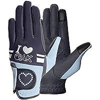AK Love - Guantes de equitación para mujer, hombres y niños, para todas las estaciones, color azul oscuro y claro, tamaño small