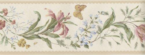 Fine Decor - Cenefa para Pared (173 mm), diseño de Mariposas y...