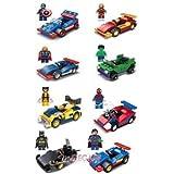 Your's Choice Hierro hombre Thor Hulk Batman Superman Spiderman 8 Figura Mini vehículo ajuste con Lego