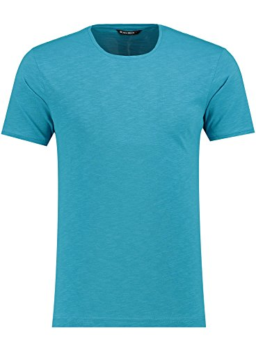 Herren T-Shirt - Rundhals - Slim-Fit/Figurbetont - Oversize - Meliert - Modernes Kurzarm Vintage Shirt Petrol XXL