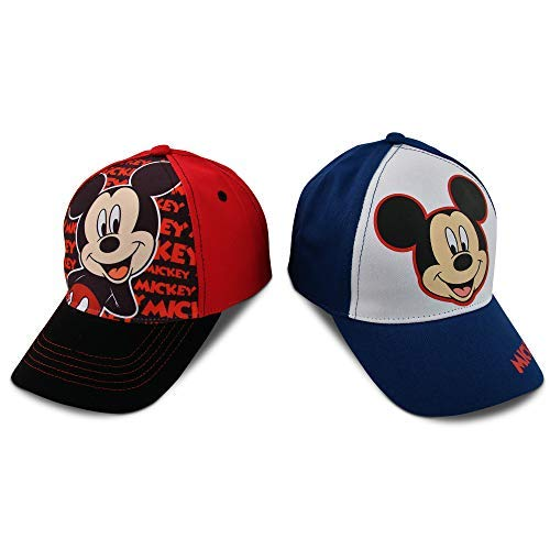 Disney Jungs Verschiedener Charakter Cotton Baseballmütze, 2 Stück Design Set Kleinkind-Jungen â €