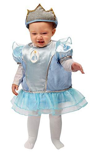 Ciao Baby Cinderella Kinder-Kostüm Disney Princess, 6-12 Monate, Hellblau, 11257.6-12