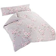 Catherine Lansfield Canterbury - Funda nórdica + funda de almohada para cama de 105 cm