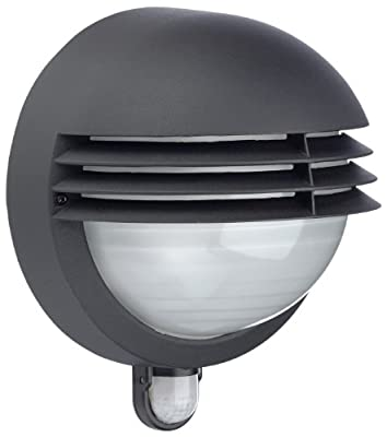 Massive BOSTON Outdoor Wall Light - Black (Requires 1 x 60W E27 Bulb) produced by Philips - quick delivery from UK.