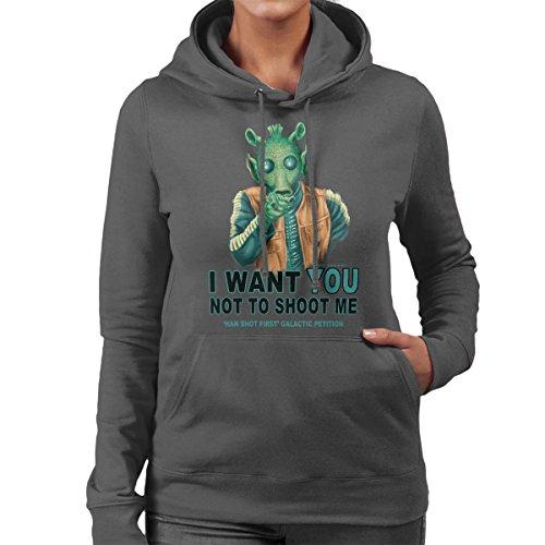Rodian Petition Greedo Star Wars Women's Hooded Sweatshirt Charcoal