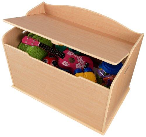 KidKraft 14953 Baúl con tapa para almacenaje de juguetes Austin de madera, muebles para salas de juego y dormitorio de niños - Natural