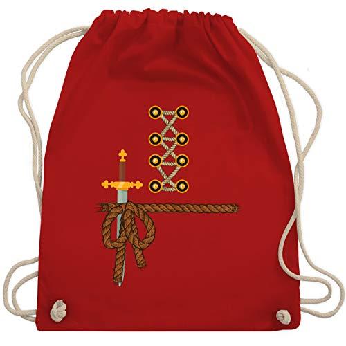 Faschingkostüm Ritter - Karneval & Fasching - Ritter Kostüm Fasching - Unisize - Rot - WM110 - Turnbeutel & Gym Bag