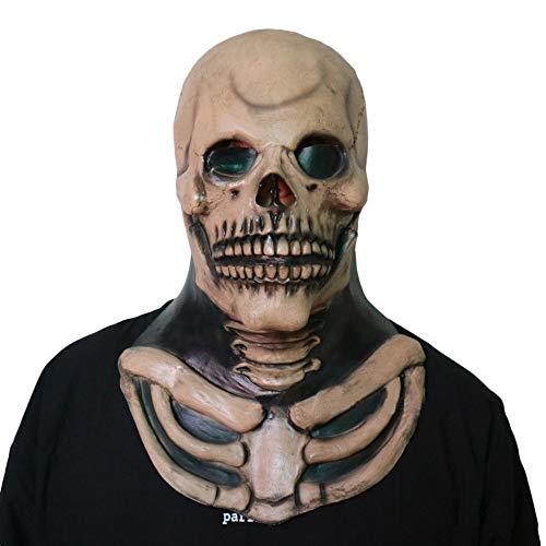 QQWE Halloween Grimasse Maske Horror Teufel Schädel Maske -
