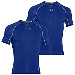 Under Armour Men Heatgear Compression Armour Short Sleeve Tee 2 Pack (Royal, S)