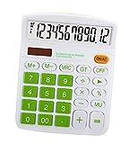 Mengshen Calcolatrice da Tavolo, calcolatrici Grandi Batteria Solare a Doppia Alimentazione 12 cifre LCD Display Calcolatrice dedicata finanziaria Calcolatrice Standard per Ufficio/casa/Scuola