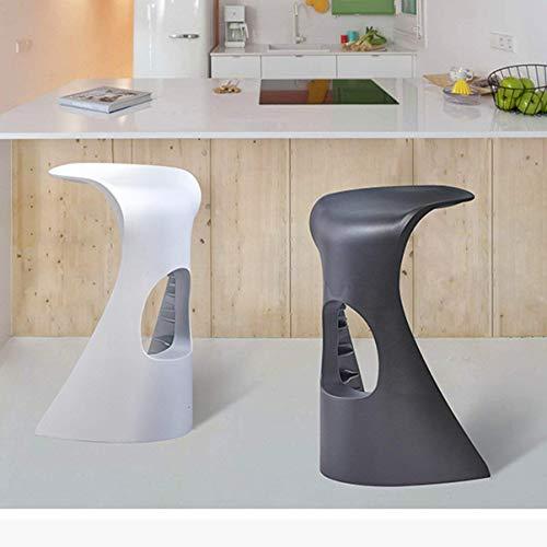 Wisdom Einfache weiße Barhocker Kunststoff Barhocker Mode kreative Bar Stuhl Haifisch Gegenstuhl,Weiß - Weiße Acryl-barhocker
