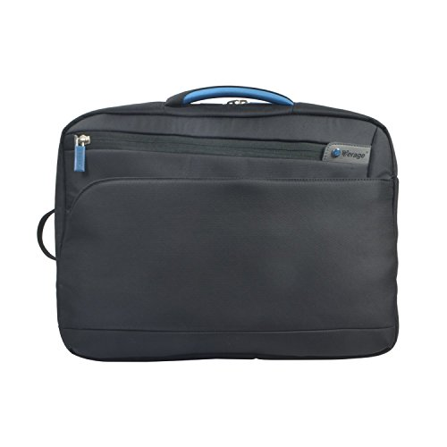 Verage Visionary 3in1 Umhängetasche Business-Aktentasche Studententasche multifunktionaler Rucksack Messenger (Schwarz) fit für 15,6 Zoll Laptop/Notebook mit Tablet/Pad-Fach, Trolley aufsteckbar