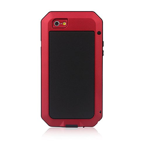 Waterproof Shockproof Aluminum Gorilla Glass Metal Cover Full-body Military Armor Protective Snowproof Dustproof Front and Back Case Cover For Apple iPhone 5 5S - Black by ISOUL rouge