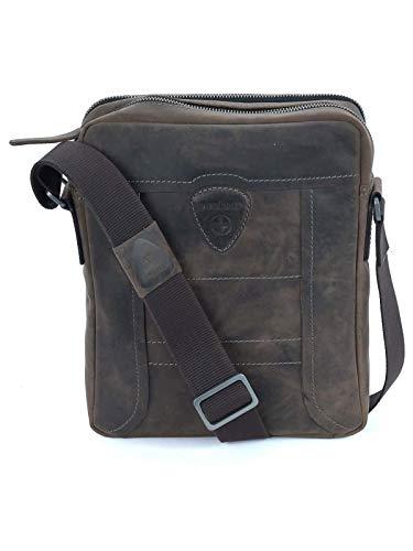 Strellson hunter shoulderbag svz Herren Leder Tasche, Dark Brown, 22,5X28X6 -