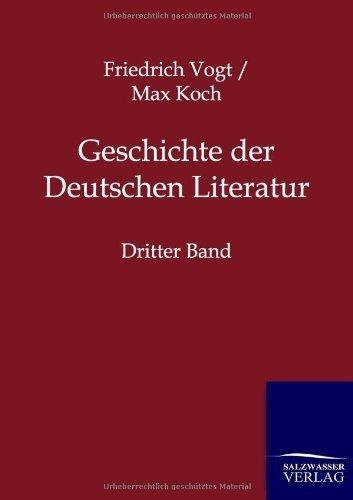 Geschichte der Deutschen Literatur by Friedrich Vogt (2012-06-18)