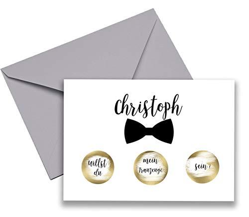 llst du Mein Trauzeuge Sein Rubbellos Karte Hochzeit Einladung Rubbellos personalisiert individuell Name Trauzeugen Geschenk Idee #07 ()