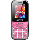 G'five Plus Basic Feature Mobile Phone With Dual Sim, 1.8 Inch Display, 1050 MAH Battery, FM Radio With Recording, Bluetooth, Torch, Digital Camera, Expandable Upto 16GB, BIS Certified And 1 Year Warranty (Pink)