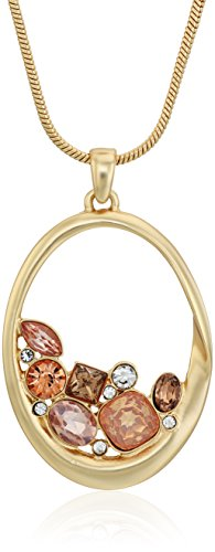 t-tahari-matte-gold-brown-stone-cluster-inside-ring-pendant-necklace-24-4-extender