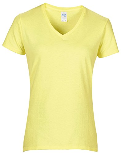 Frauen-Premium-BaumwollemitV-Ausschnitt T-Shirt Cornsilk