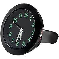 Reloj de coche para salpicadero, decoración de coche, con clip de rejilla de ventilación, color negro