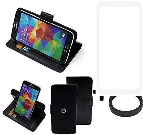 K-S-Trade® Case Schutz Hülle Für -Leagoo KIICA Power- + Bumper Handyhülle Flipcase Smartphone Cover Handy Schutz Tasche Walletcase Schwarz (1x)