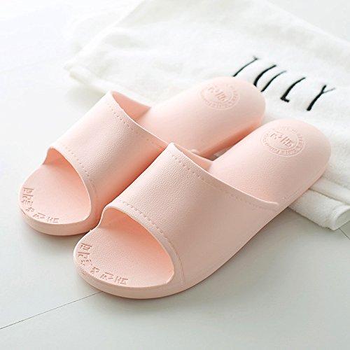 DogHaccd pantofole,Estate uomini pantofole coppie soggiorno anti-slip da bagno interno giapponese fondo morbido bagno casa cool pantofole calzature donna Rosa chiaro3