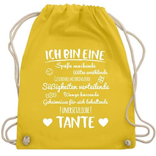 Schwester & Tante - Ich bin eine Tante - Unisize - Gelb - WM110 - Turnbeutel & Gym Bag (Gelb-stoff Bin)