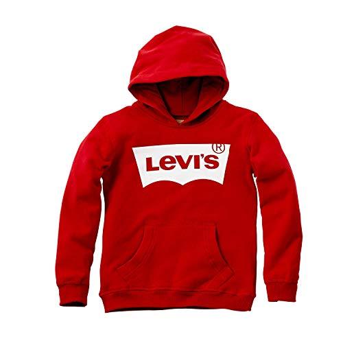 Levi's Kids Jungen Kapuzenpullover N91503A, Rot (Red 03), 140 (Herstellergröße: 10A) -