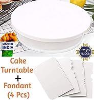 Bulfyss Cake Turntable Revolving Cake Decorating Stand Cake Stand Sugarcraft 28cm Turntable