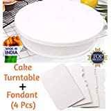 Bulfyss Cake Turntable Revolving Cake Decorating Stand Cake Stand Sugarcraft 28cm Turntable