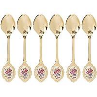 Hanipol 103-6190 - Juego de 6 cucharillas de té de oro, multicolor