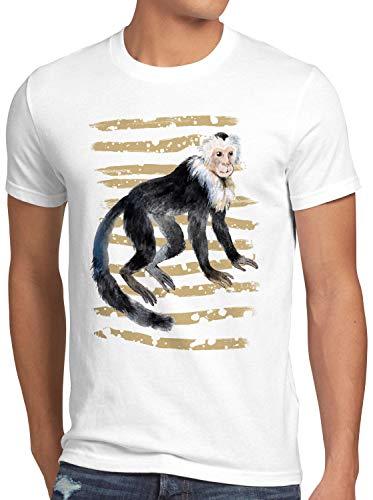 style3 AFFE Herren T-Shirt kapuziner Zoo Sommer, Größe:XL