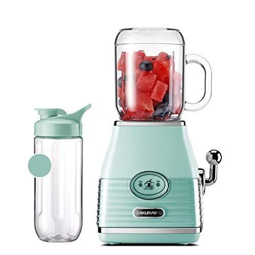 Mini-Standmixer Elektrische Tasse Kleine Saftpresse Haushalt Geld Automatische Obst und Gemüse Multifunktions-Stabmixer, Leistung: 300W, Spannung: 220V @ Grün
