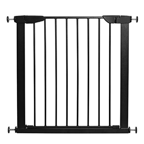 YONGYONG-Guardrail Barrera de Seguridad for bebés y niños Valla de Escalera Valla de Aislamiento for Perro Mascota Pieza Larga Negra esmerilada (Color : Black, Size : 103-110cm)