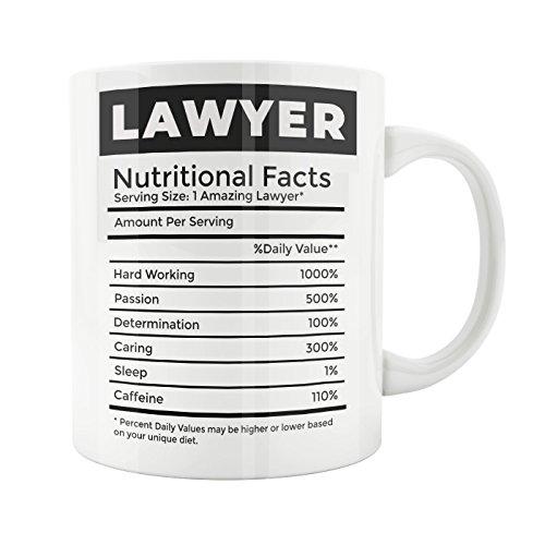 Taza de regalo para abogado, con texto en inglés'Lawyer Gift Lawyer'