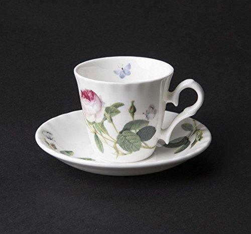 Roy Kirkham Palace Garden Rose Espresso Tasse & Untertasse in Fine Bone China-xpalg1120X 6boxed Rose Garden Bone China