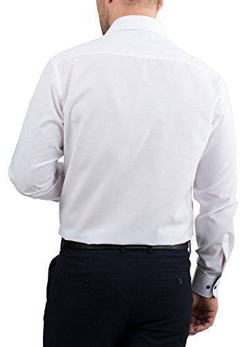 ETERNA Langarm Hemd SLIM FIT unifarben Bianco