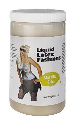 (Ammonia Free Liquid Latex Body Paint - 32oz Metallic Gold by Liquid Latex Fashions)