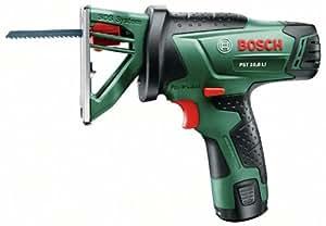 """Bosch Home and Garden PST 10,8 LI Akku-Multisäge """"Easy"""", Ladegerät, Akku, Sägeblatt, Koffer (10,8 V, 1,5 Ah, 30 mm Schnitttiefe in Holz)"""