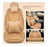 MJK Winter AutositzbezüGe 5 Sitze Full Set, Feiner Auto Protect Bezug, Universal Fit Autositzschutz FüR Autos Vorne Hinten Waschbar/Yellow Luxury