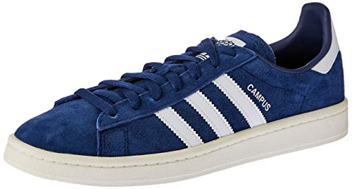 adidas Unisex-Erwachsene Campus Sneakers, Blau (Dark Blue/Footwear White/Chalk White), 42 EU