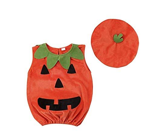 CIPOPO Halloween Kostüm Kleinkind Baby Unisex Kürbis Faschingskostüme Cosplay Halloween-Kürbis-Kostüm Jumpsuits Kleidung für die Halloween-Kostüm-Partei(1-5T) (KürbisA, 1-2 Years) (Kostüme Halloween Kleinkinder Jungen)