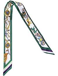 iShine Femme Foulard Fin 5 * 90cm Petite Echarpe avec Impression Ruban de Soie Artificielle Accessoire Sac à Main Bandeau à Cheveux Cravate Poignet de la Serviette