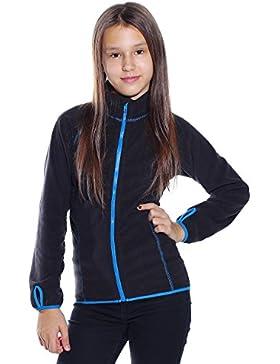 Kinder warmer Pullover Hoodie Jacke Sweat Shirt Mädchen Sweatshirt Langarmshirt Schwarz 134/140