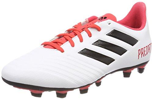 adidas Herren Buty Piłkarskie Predator 18.4 Fxg CM7669 Fußballschuhe, Schwarz (FTWR White/Core Black/Real Coral S18), 47 1/3 EU (Rasen Fußball Herren Adidas Schuhe)