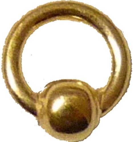 Piercing anello con chiusura a sfera, placcato oro 24K, 4mm... eccellente per Nail Art