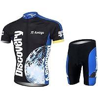 JT-Amigo Conjunto de Maillot de Ciclismo y Pantalones Cortos para Hombre, Talla M