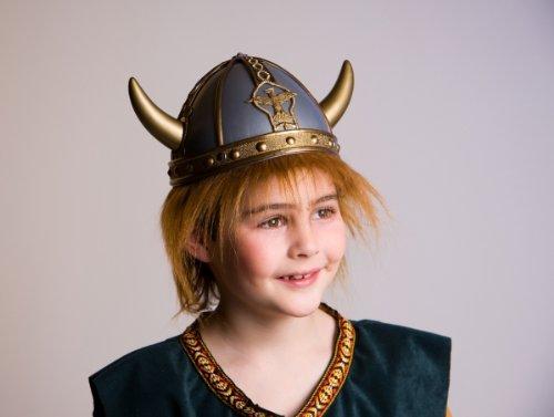 Wikinger-Helm mit Haaren für (Haar Matrose Kostüm)